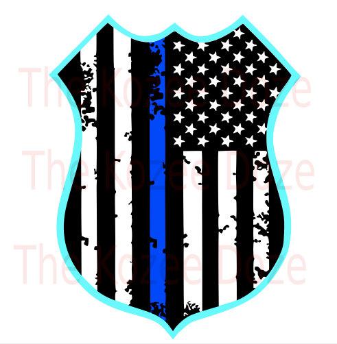 491x502 Police Officer Leo Badge W Distressed Flag Amp Thin Blue Line Svg