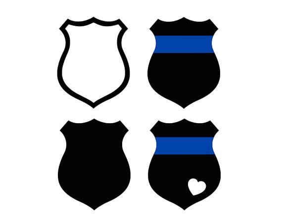 570x453 Police Badge Svg Thin Blue Line Svg Police Wife Svg Police