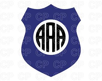 340x270 Police Monogram Svg Etsy