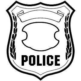 270x270 Sweet Police Badge Template For Preschool
