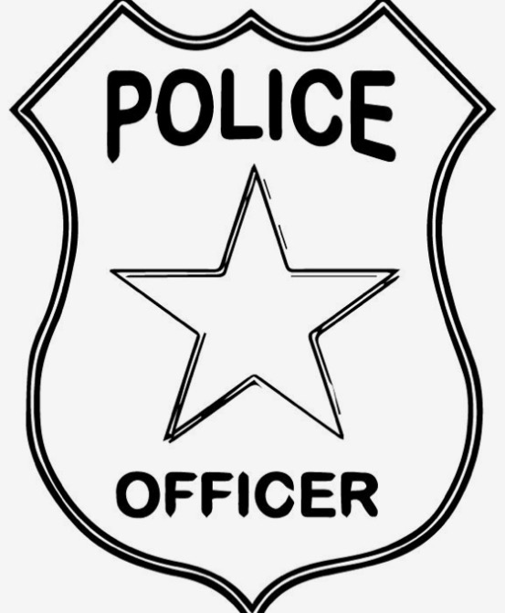 553x671 Extraordinary Police Badge Template For Preschool Colouring Pages