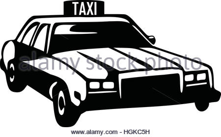 450x279 Taxi Silhouette Of A Retro Car Stock Vector Art Amp Illustration