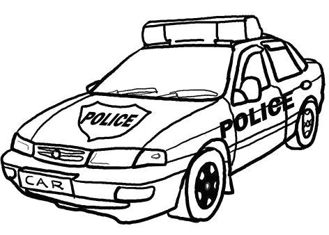 472x338 Police Car Coloring Pages Crafts Police Cars And Craft