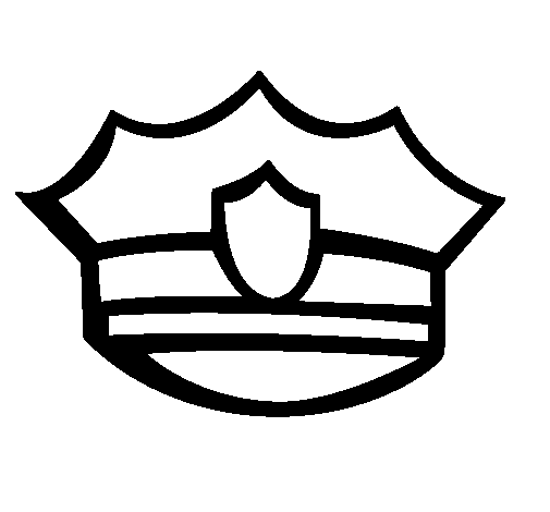 Police Hat Silhouette at GetDrawings.com | Free for personal use ...