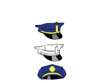 340x270 Police Cap Svg Etsy