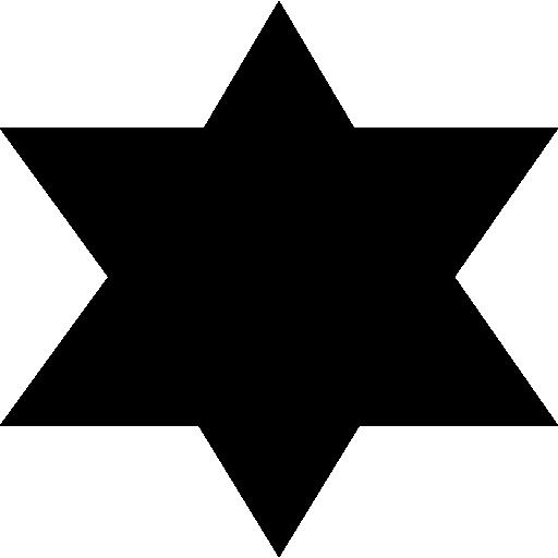 512x512 Shapes, Star Variant, Badge Silhouette, Badge, Star Of David, Star