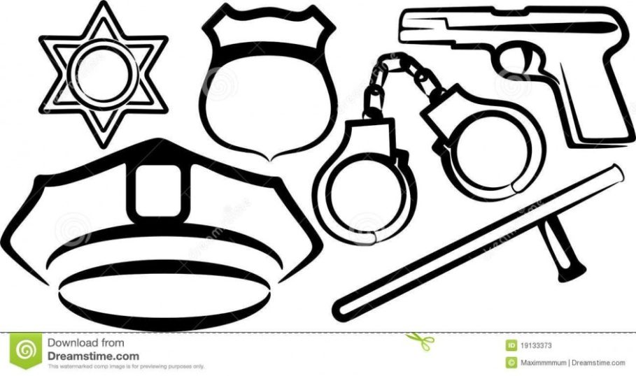 909x538 Format Free Coloring Pages Of A Police Hat Things To Wear