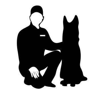 340x340 Free Silhouette Vector Police, Policeman