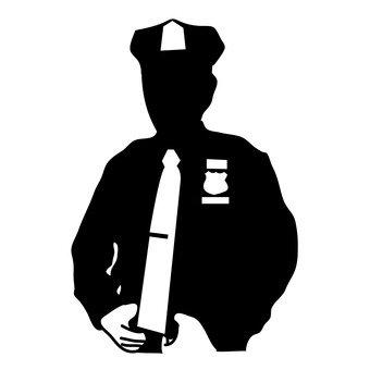 340x340 Free Silhouettes Dj Police, Police