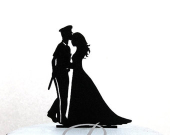 340x270 Mr Amp Mrs Police Officer And Nurse Wedding Cake Topper Police