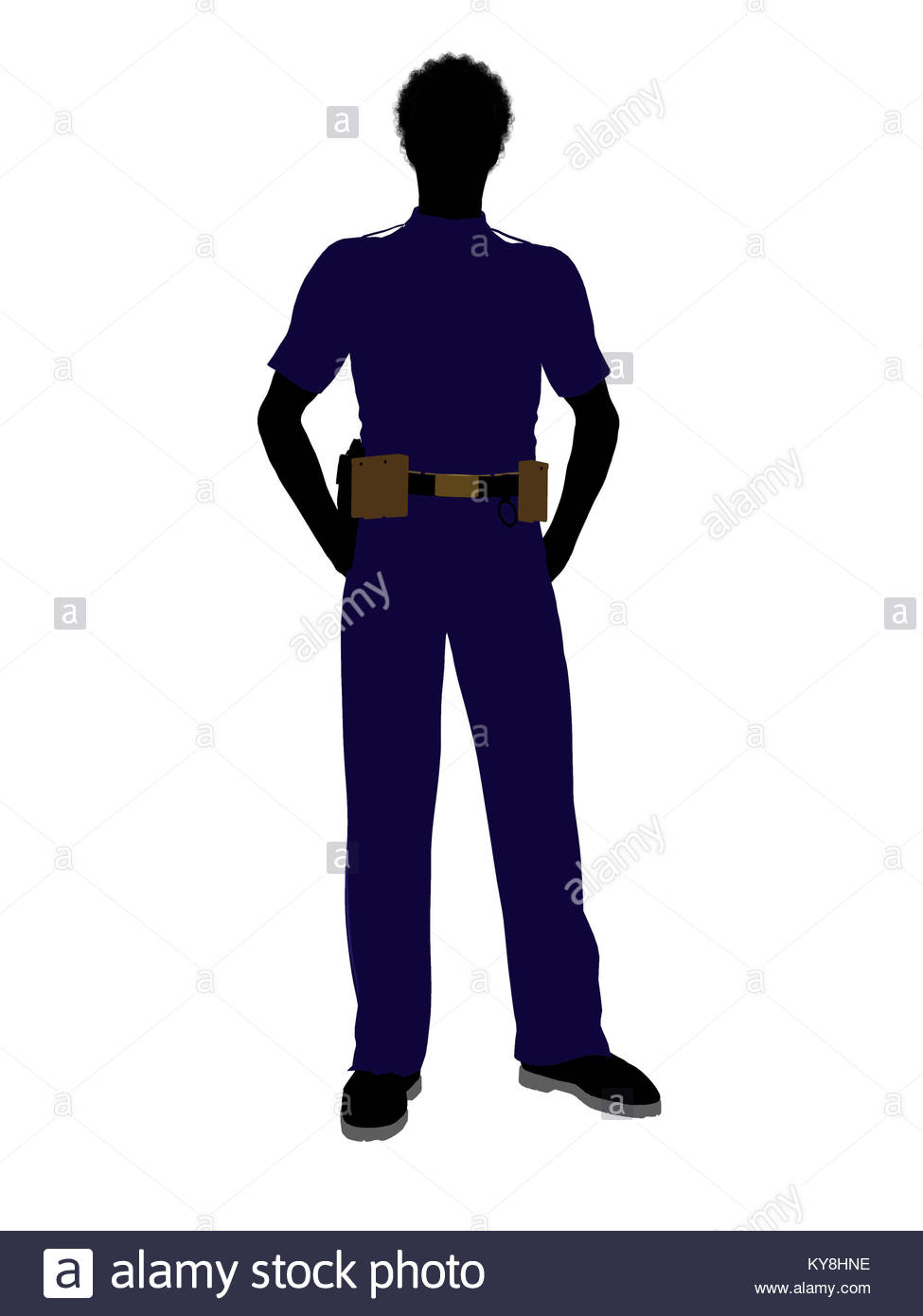 975x1390fricanmerican Male Police Officer Silhouette Illustration On