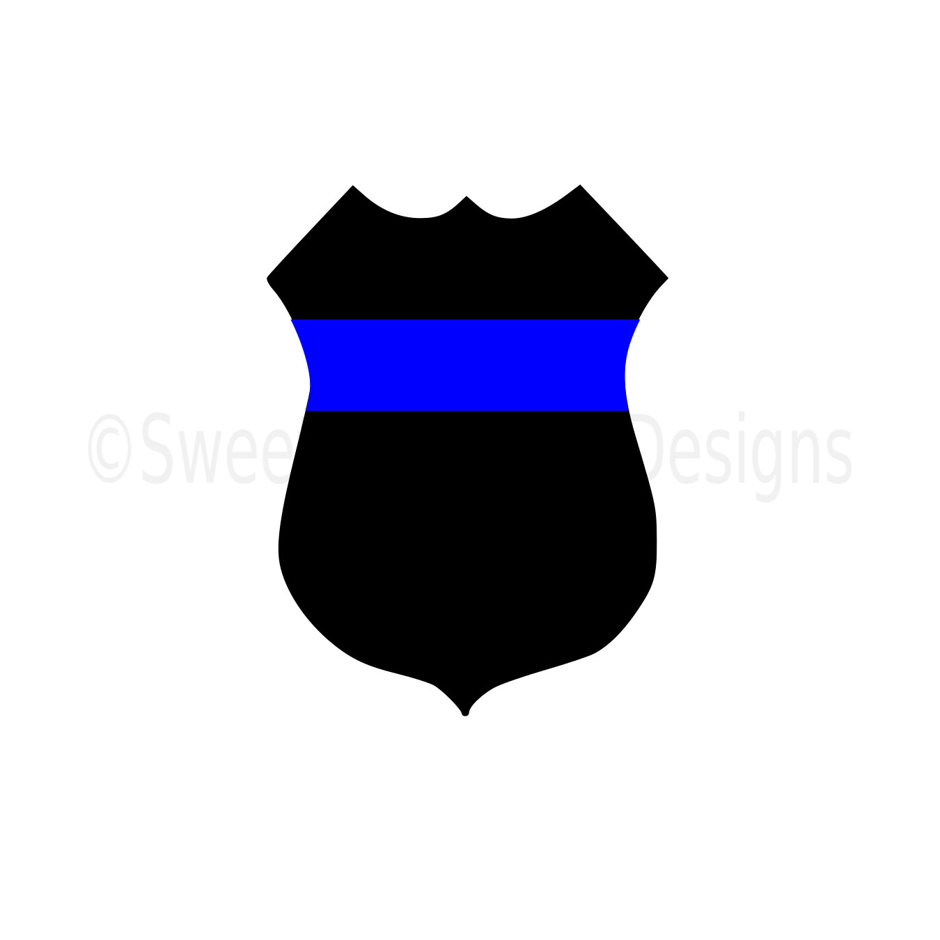 1350x1350 Police Badge Thin Blue Line Svg Instant Download Design For Cricut