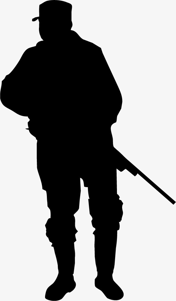 578x986 Black Armed Police Figure Silhouette, Black, Business, Silhouette