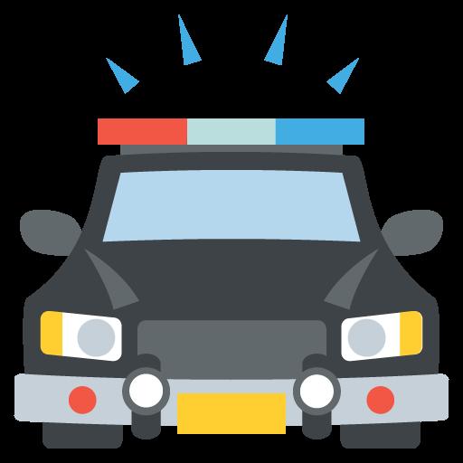 512x512 Oncoming Police Car Emoji Vector Icon Free Download Vector Logos
