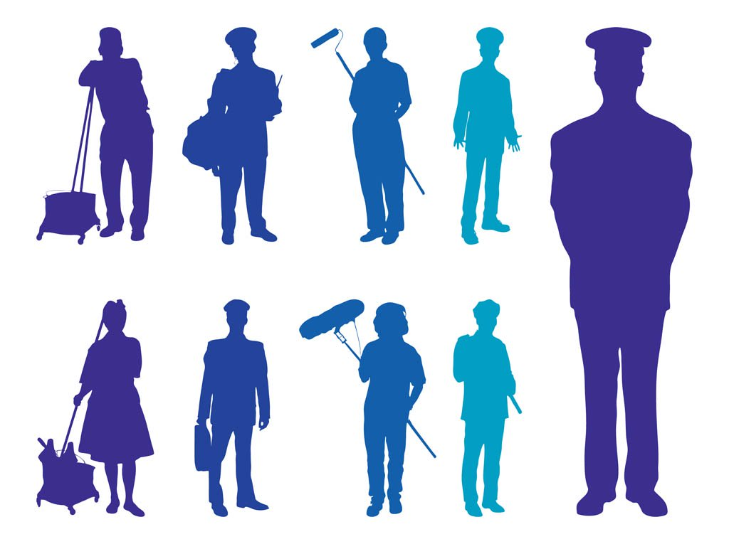 1024x765 Professions Silhouettes Vector Art Amp Graphics