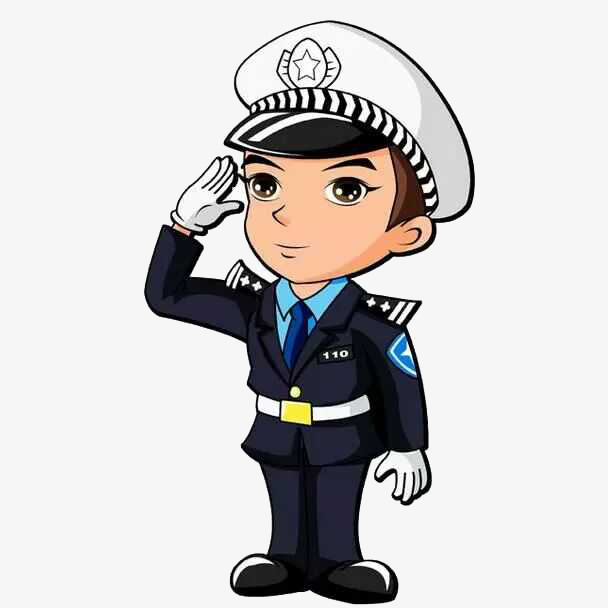 608x608 Salute The Little Police, Salute, Policemen, Design Png Image