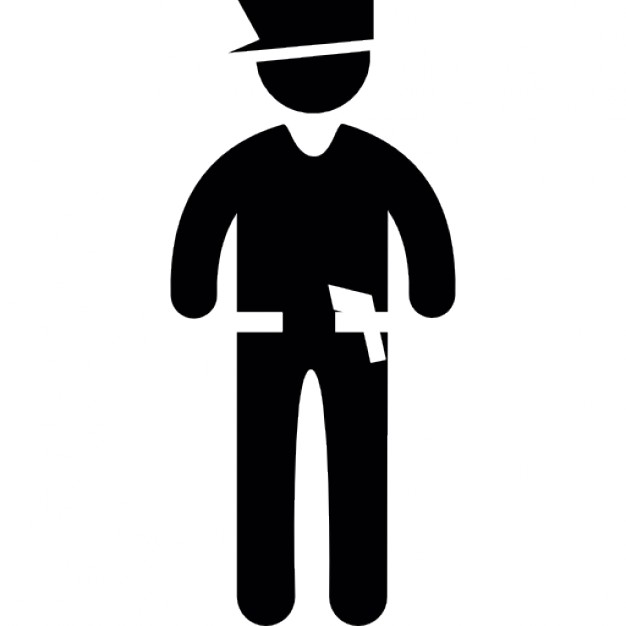 626x626 Standing Frontal Police Icons Free Download