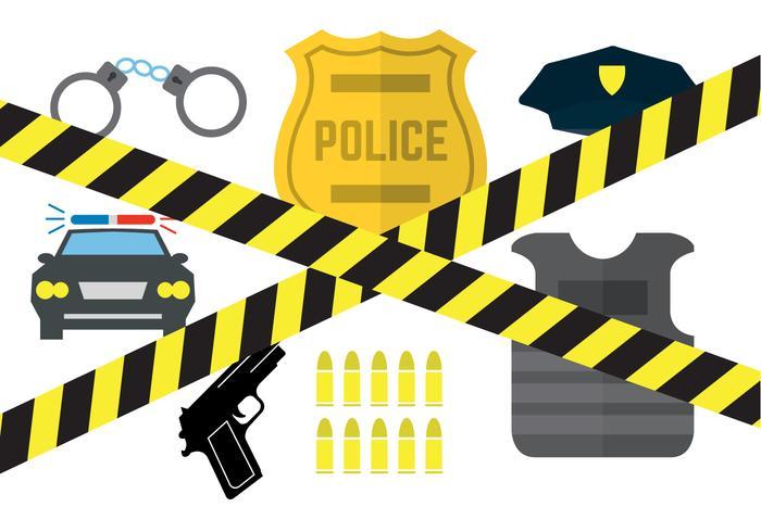 700x490 Vector Set Of Police Equipment