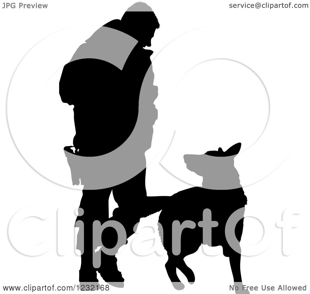 1080x1024 Clipart Of A Silhouetted Police Officer And K9 German Shepherd Dog
