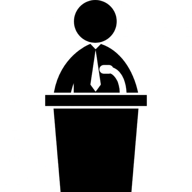 626x626 Political Candidate Speech Icons Free Download