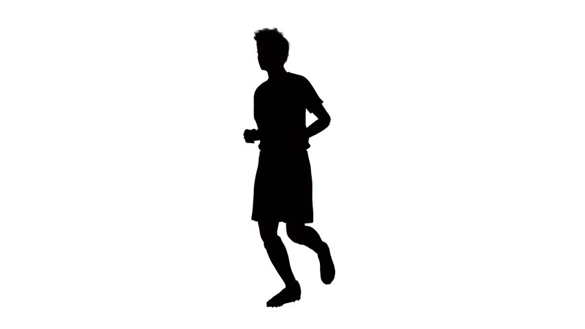852x480 Silhouette Of Man Running Stock Footage Video 3004948 Shutterstock