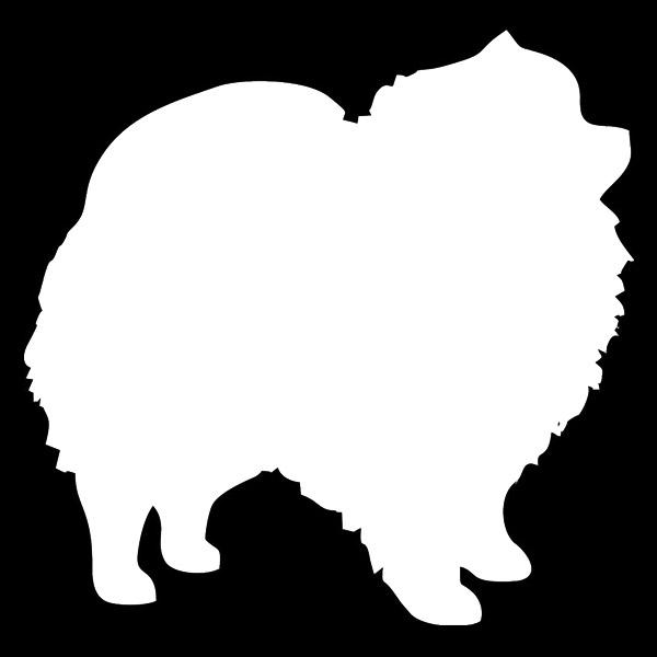 600x600 Pomeranian Decal