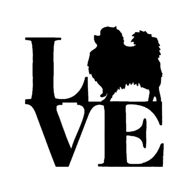 800x800 1pcs Pomeranian Car Stickers Love Dog Funny Car Styling Decals