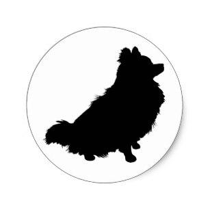 307x307 Pomeranian Silhouette Stickers Zazzle