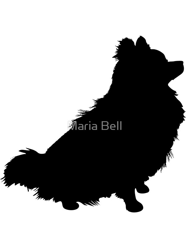 600x800 Pomeranian Silhouette Stickers By Maria Bell Redbubble