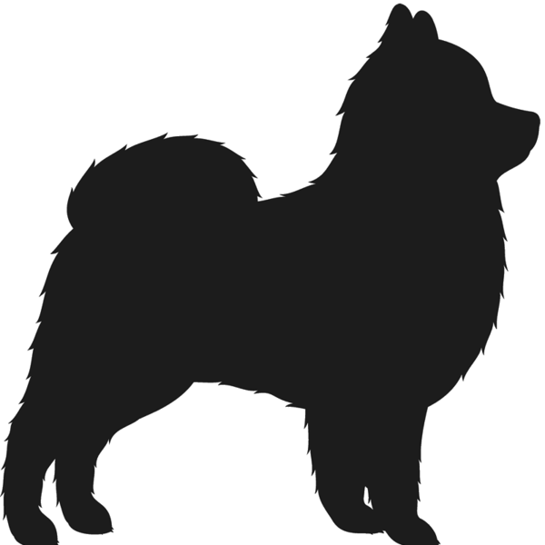 600x600 Pomeranian Stamp (Silhouette) Dog, Cat Amp Fur Baby Stamps