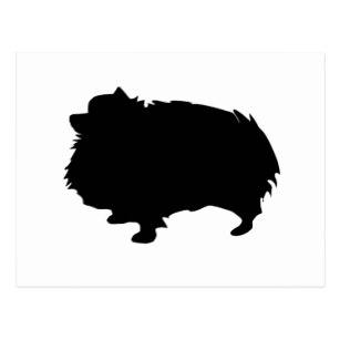 307x307 Silhouette Pomeranian Postcards Zazzle