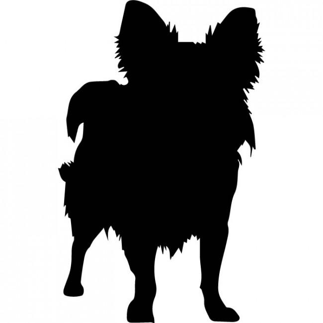 650x650 Long Coat Chihuahua Silhouette Wall Sticker Dog Wall Art