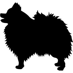 300x300 Pomeranian Silhouette Design, Silhouettes And Store