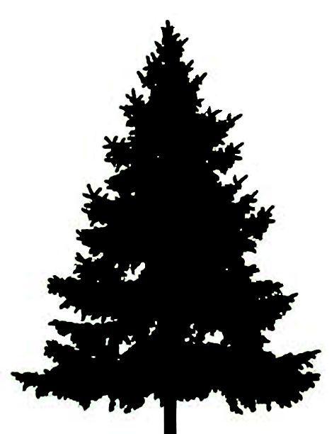 472x612 Tree Silhouette Clip Art Clipart Fir Tree January Ink Art