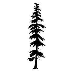 236x237 Pine Cone Tattoo With Ski Track
