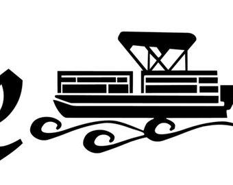 340x270 Pontoon Boat Art Etsy