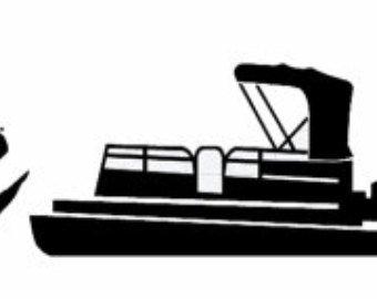 340x270 Beautiful Pontoon Boat Clip Art