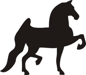 360x316 Hackney Pony Silhouette Decal