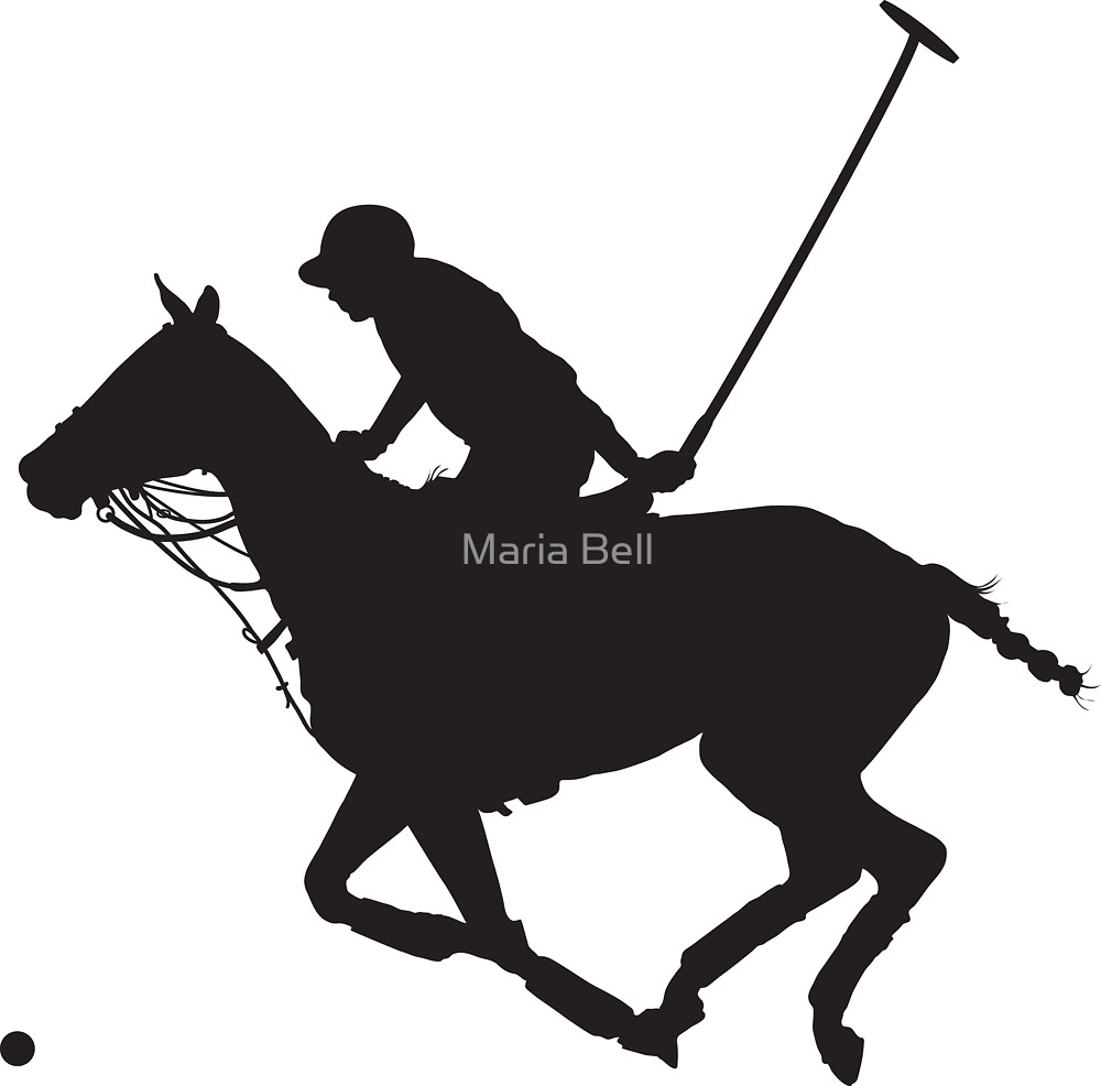 1000x986 Polo Pony Silhouette By Maria Bell Redbubble