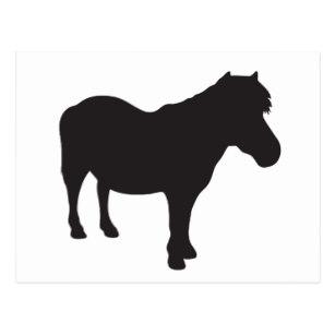 307x307 Pony Silhouette Postcards Zazzle