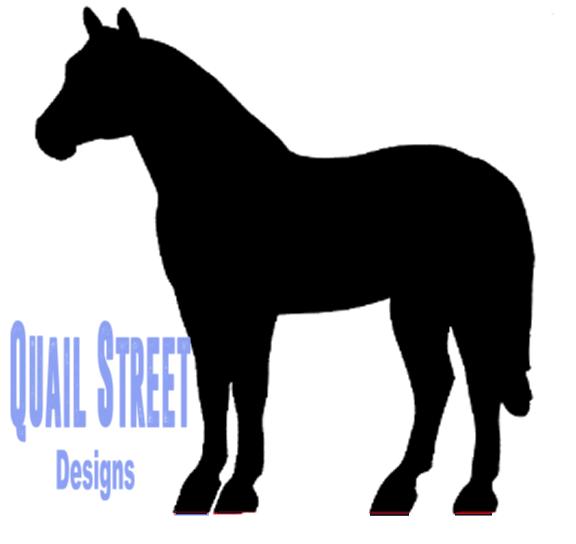 576x544 Standing Horse Halter Horse Silhouette Vinyl Decal Quail Street