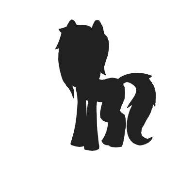 400x400 Dani Strider (Pony Silhouette) By That Blue Fennec Fox