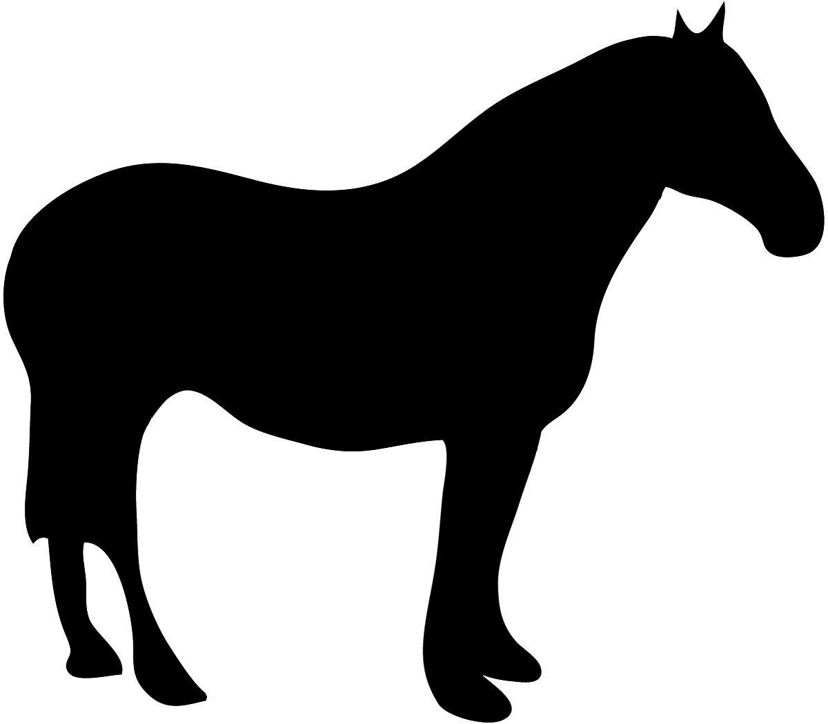 Pony Silhouette Clip Art