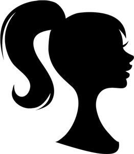 Ponytail Silhouette Vector