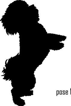 Poodle Head Silhouette