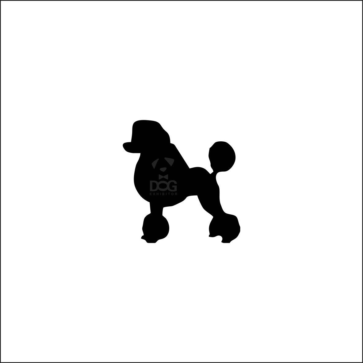 1184x1184 Poodle Silhouette Sticker