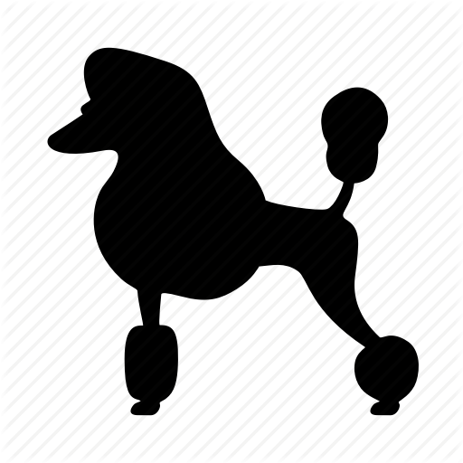 512x512 Animal, Dog, Doggy, Hair Style, Pet, Poodle, Silhouette Icon