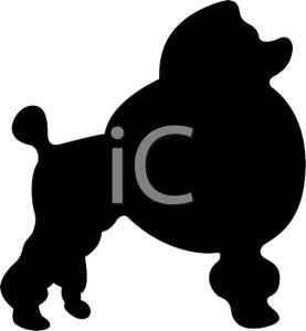 277x300 Art Image Black And White Silhouette Of A Poodle
