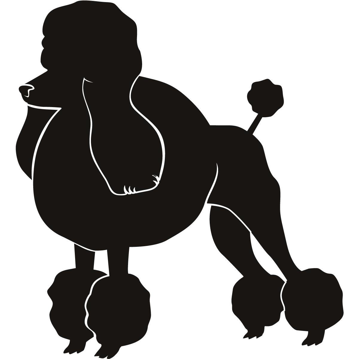 1200x1200 Clip Art Image Of Poodle Silhouette Clip Art Poodle Silhouette