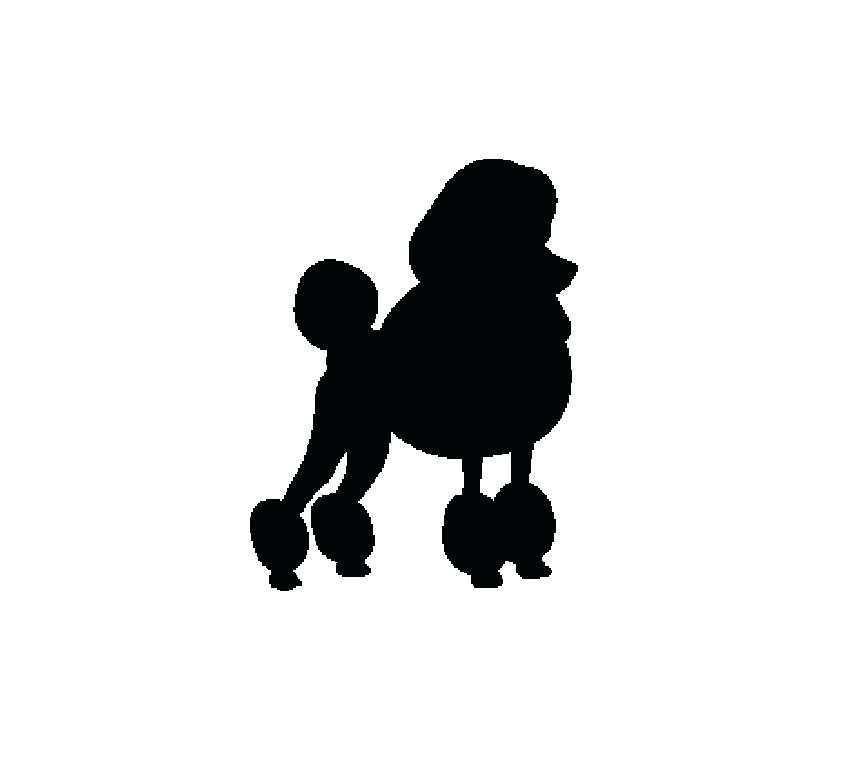 866x768 Poodle Outline For Poodle Skirt Poodle Silhouette Poodle Outline